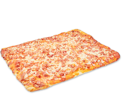 York Ham and Bacon Pizza
